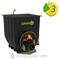 Печка булерьян Canada тип 03 с плитой и стеклом (в рассрочку 0%)