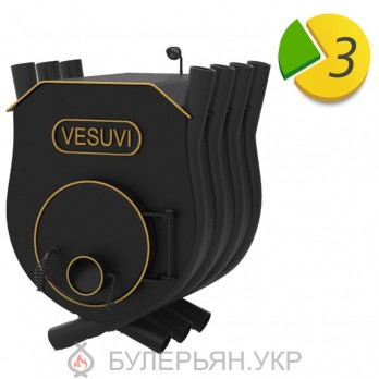 Отопительная печь булерьян Vesuvi тип 01 с плитой (в рассрочку 0%)