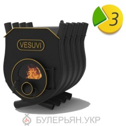 Печка булерьян Vesuvi тип 02 с плитой и стеклом (в рассрочку 0%)