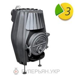 Піч ВІТ Bullerjan Б-15 тип 02 з горизонтальним димоходом (в розстрочку 0%)