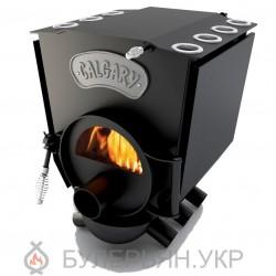 Печка булерьян Новаслав Calgary lux ПО-Б 00 С тип 00 с плитой и стеклом