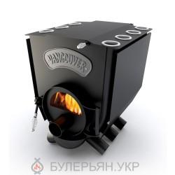 Печка булерьян Новаслав Vancouver lux ПО-Б 01 С тип 01 с плитой и стеклом