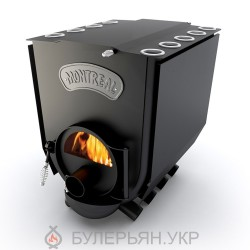 Печка булерьян Новаслав Montreal lux ПО-Б 02 С тип 02 с плитой и стеклом