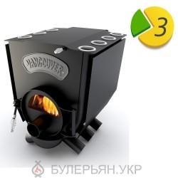Піч булер'ян Новаслав Vancouver lux ПО-Б 01 С тип 01 з плитою і склом (в розстрочку 0%)