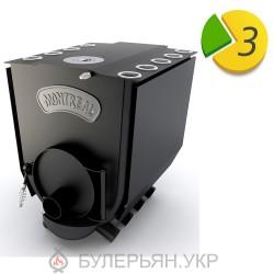 Піч булер'ян Новаслав Montreal lux ПО-Б 02 ЧК тип 02 з чавунною конфоркою (в розстрочку 0%)